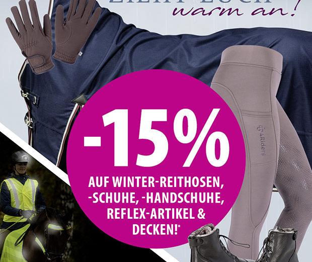 EQUIVA Rabatt Aktion Zieht euch warm an! 15 % Rabatt